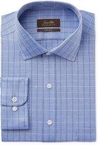 Tasso Elba Men's Classic-Fit Indigo Herringbone Check Dress Shirt, Only at Macy's