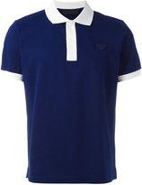 Prada contrast collar polo shirt - men - Cotton - S