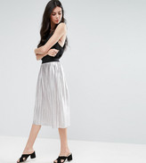 Y.a.s Tall Pleated Metallic Skirt