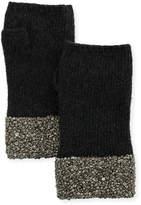 Carolyn Rowan Fingerless Cashmere Gloves w/ Crystal Pave Cuffs