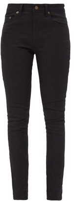 Saint Laurent Slim-fit Cotton-blend Jeans - Black