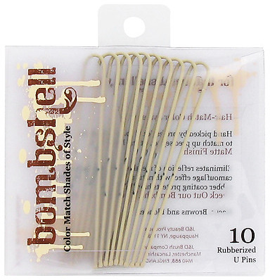 """Bombshell Blonde Collection Rubberized """"U"""" Pins"""
