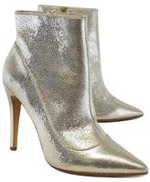 Alice + Olivia Alice & Olivia Gold Metallic Leather Booties