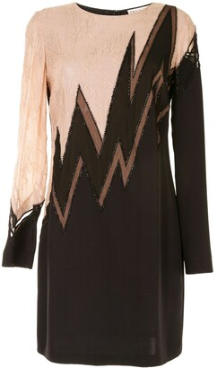 Emilio Pucci Pre-Owned Floral-Lace Panelled Dress
