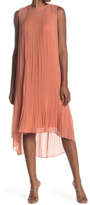 Club Monaco Pleated High Low Dress