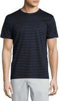 Theory Andrion Striped Short-Sleeve T-Shirt, Eclipse