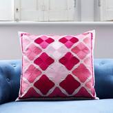 Graham and Green Phulkari Square Cushion In Tonal Pink