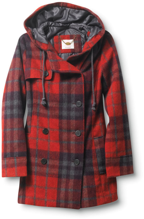 Quiksilver Cascade Plaid Peacoat