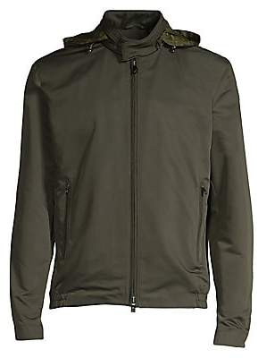 Corneliani Men's Ripstop Baseball Jacket