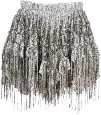 Isabel Marant Zulina fringed shorts