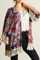 Umgee USA Navy Paisley Kimono