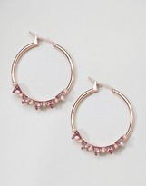 Johnny Loves Rosie Triangle Crystal Hoops