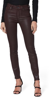 Paige Transcend Hoxton High Waist Coated Ankle Skinny Jeans