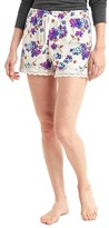 Gap Lodge flannel lace-trim shorts