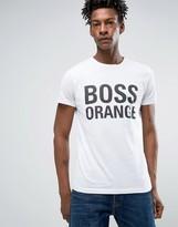 BOSS ORANGE by Hugo Boss Logo T-Shirt Slim Fit in White