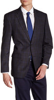 Tommy Hilfiger Ethan Grey Windowpane Two Button Notch Lapel Suit Separates Jacket