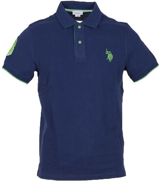 U.S. Polo Assn. Dark Blue Pique Cotton Men's Polo Shirt