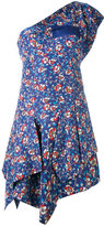 Isabel Marant floral one shoulder dress - women - Silk/Cotton - 34
