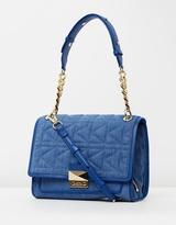 Karl Lagerfeld K/Kuilted Denim Handbag