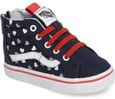 Vans SK8-Hi Hearts Sneaker (Baby, Walker, Toddler, Little Kid & Big Kid)