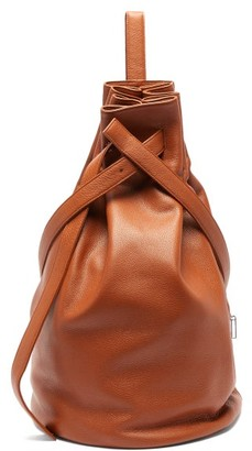 Tsatsas Kilo Grained-leather Shoulder Bag - Tan