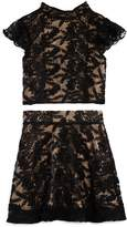 Miss Behave Girls' Lace Top & Skirt Set