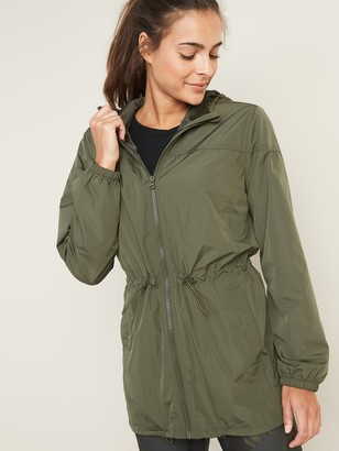 Old Navy Go-H20 Water-Resistant Lightweight Hooded Anorak for Women