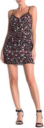 LPA V-Neck Adjustable Strap Sequin Dress