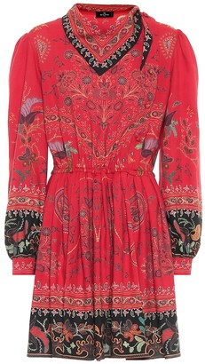 Etro Exclusive to Mytheresa Printed wool and silk minidress