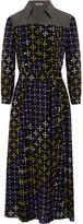 Bottega Veneta Printed Silk Crepe De Chine Shirt Dress - Purple