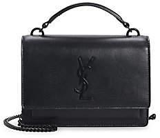 Saint Laurent Women's Sunset Leather Top Handle Bag