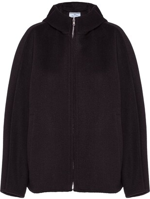 Prada Hooded Zip-Up Jacket