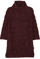 Raoul Embellished Textured-Knit Turtleneck Sweater