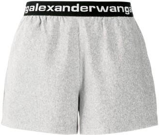 Alexander Wang Logo-Waistband Shorts
