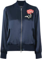 ADAM by Adam Lippes embroidered flower bomber jacket