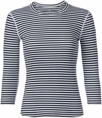 Three Dots Women's Mischa Raw Stripe