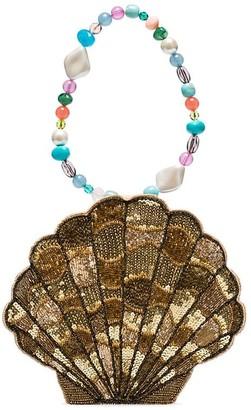 Rixo Sacha sequin-embellished shell bracelet bag