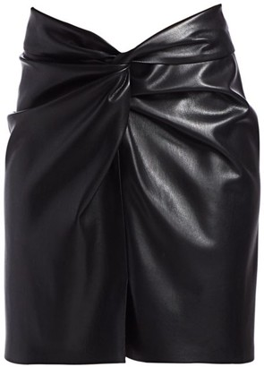 Nanushka Milo Vegan Leather Knotted Skirt