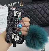 Iphone 6/6s Fur Ball Case,Jesiya New Fashion Style Gem Bracelet Bling Diamond Chain With Warm Fox Fur Hair Plush Ball Hard PC Glitter Case Cover For Iphone 6/6s 4.7""