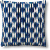 Dransfield and Ross Essence Cut 24x24 Pillow, Blue/Beige