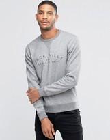 Jack Wills Sweatshirt With Print And Raglan Sleeves In Gray Marl