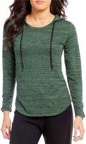 Jones New York Space-Dye Knit Jersey Hooded Knit Top