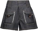 Derek Lam 10 Crosby Frayed denim shorts