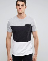 Celio T-shirt With Block Paneling