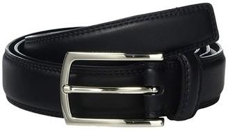Calvin Klein 30 mm Double Stitch Edge (Black) Men's Belts