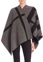 Burberry Mega Check Cashmere & Wool Cape