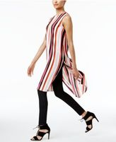 Vince Camuto Striped High-Low Tunic, A Macy's Exclusive