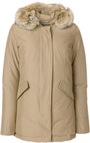 Woolrich feather hooded coat - women - Cotton/Polyamide/Polyester/Duck Feathers - XS