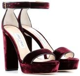 Jimmy Choo Holly 120 Velvet Sandals