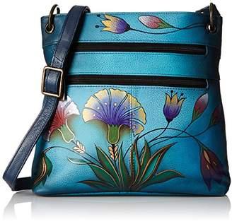 Anuschka Anna by Women's Genuine Leather Shoulder Bag | Hand Painted Original Artwork | Turkish Garden